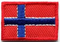 Flag of Norway Norwegian Europe embroidered applique iron-on patch Small S-94