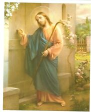 "Catholic Print Picture JESUS KNOCKING at DOOR - Simeone art 8x10"" Italy"