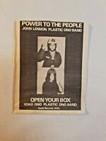 Vintage Ad John Lennon Yoko Ono Power To The People LA FREE PRESS Beatles