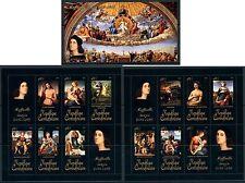 Central Africa Art Nude Middle Ages Raphael complete MNH stamp set 15 sheets