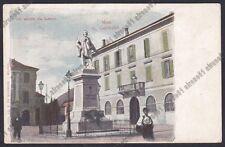 LECCO CITTÀ 92 MONUMENTO a GARIBALDI Cartolina primi '900