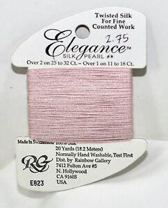 Rainbow Gallery Elegance silk pearl #8 100% silk 20 yard pink E823