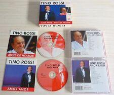 RARE COFFRET 2 CD ALBUM TINO ROSSI AMOR AMOR & ROSES DE PICARDIE 40 TITRES 2005