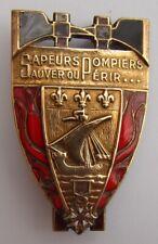 insigne SAPEURS POMPIERS DE PARIS DRAGO BERANGER WW2