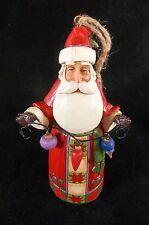 "Jim Shore 2013 Ornament Santa Holding Ornaments Lights Heartwood Creek  4.5"""