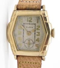 Elgin Vintage Ladies Watch Tonneau Shape Manual Wind 10K Yellow Gold Filled