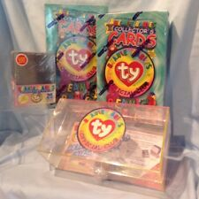 Ty 4/Lot  2 Ty Card Boxes, 1 Card Storage Box, 1 Pkg 25 Card Protectors $23.99