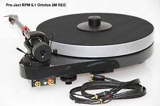 PRO-JECT RPM 5.1 Plattenspieler Ortofon 2M RED + Plattenpuck + Korkmatte-auflage