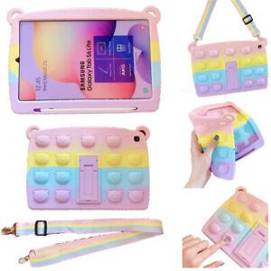 For Samsung Galaxy Tab A A7 A7/S6 Lite Pop Fidget Toys Push It Bubble Case Cover