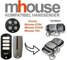 MHouse GTX4, GTX4C, TX4 kompatibel handsender, 4-Kanal 433,92MHz TOP Qualität!!!