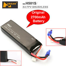 Black 7.4V 2700mAh Lipo Battery Spare Parts For Hubsan H501S RC Drone Airplane