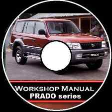 TOYOTA Prado 90-95 Series 1996-2002 Workshop Toolbox Repair Manual CD