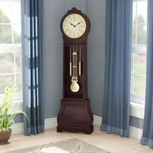 """72"""" Floor Standing Grandfather Clock Antique Vintage Chime Traditional Big Decor"""