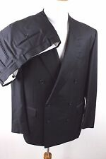 Pal Zileri Loro Piana Tasmanian 120s Black Formal Suit Mens 42L 34 x 31.5