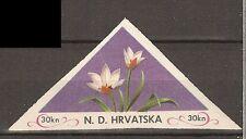 Kroatische Exilregierung 1952-53 Blumen 30kn ** Postfrisch geschnitten