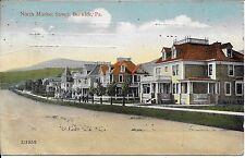 Nice Street View of North Market Street Berwick PA Vintage Postcard used in 1914