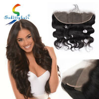 13X4 Lace Frontal Closure Free Part Wave Brazilian 100% Virgin Human Hair US
