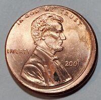 2001 - OFF CENTER BROADSTRUCK - LINCOLN MEMORIAL CENT MAJOR MINT ERROR #11038