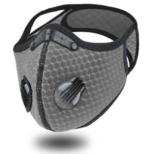 Sports Face cover For Cycling, Faceprotector with Filter Grey Motorcycle