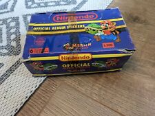 More details for nintendo official album stickers   box 100 packets 600 stickers  1992 merlin