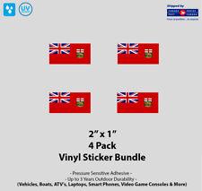 "4- Pack 2"" x 1"" Manitoba Flag Vinyl Stickers"
