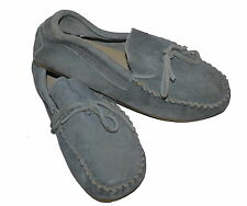 Marie Chantal Suede Moccasins Grey EU 33 UK 1 NEW Boy/Girl