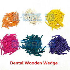 50 500pc Dental Disposable Wooden Wedges Restoration Interdental Contoured Wedge