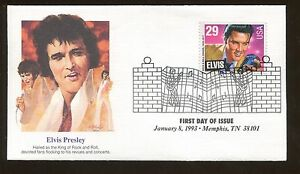 1993 Fleetwood Memphis Tennessee US Elvis Presley First Day Cover Stamp #2724