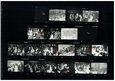 Romy Schneider et Alain Delon, Françoise Sagan... Planche contact. Les planches