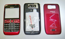 Red full housing cover fascia facia faceplate case for Nokia E63 with keypad
