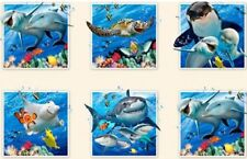 10 BEAUTIFUL SEA LIFE SELFIES PANELS DOLPHIN WHALES FOR QUILTS HOME DECOR  #5