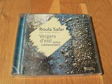 Roula Safar : Vergers d'Exil, Echos Méditerranéens - CD Editions Hortus NEW