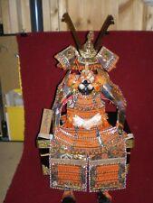 Vintage Miniature Japanese Samurai Warrior Armor Kabuto in Black Box