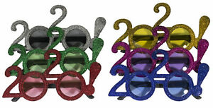 6 Pack Of 2020 New Years Eve Party Glasses (Solid Glitter!)