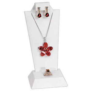 Combination Jewelry Display Set Earring Pendant Stand Ring Display White DEAL!