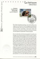 FDC / PREMIER JOUR / COLLECTION NATURE / LE HERISSON / PARIS 2001