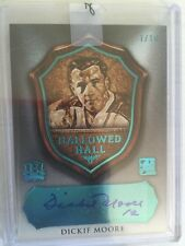 2016 Enshrined Dickie Moore 1/10 Auto Hallowed Hall 1/1 In The Game Leaf 2016