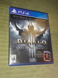 Diablo 3 Reaper of Souls Ultimate Evil Edition (Sony PlayStation PS4, 2014) CIB