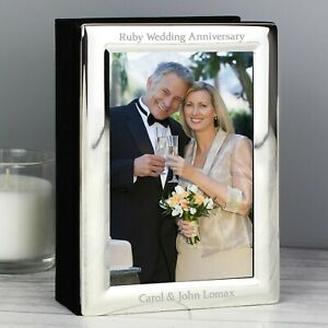 Personalised Mr & Mrs Wedding Photo Frame Album 6x4 Christening Birthday Album
