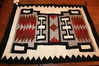 Daisy Littleman Navajo Wool Rug Storm Pattern Native American Indian 30 3/4""