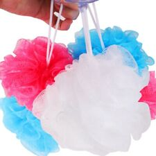 5x Exfoliating SHOWER LOOFAHS with SUCTION CUP Coloured Hang Hook Loofah Sponge