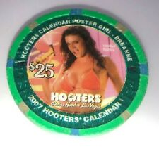 Hooters Casino las Vegas $25 Chip Limited Edition Centerfold Girl Breanne
