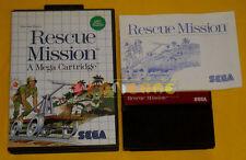 RESCUE MISSION Sega Master System Versione Italiana »»»»» COMPLETO
