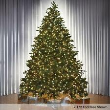 8.5' Medium CLEAR LIGHTS Hammacher World's Best Prelit Noble Christmas Tree