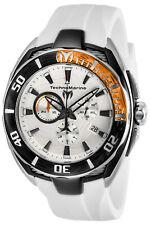 TechnoMarine Men's Cruise TM-118040 46mm White Dial Silicone Watch
