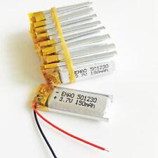 10 pcs 3.7V 150mAh Li-Po Rechargeable Battery polymer For MP3 GPS PSP pen 501230