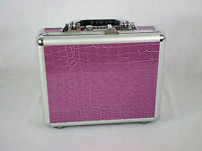 "10"" Aluminum Hard Case with Purple Alligator Print and Convoluted Foam"