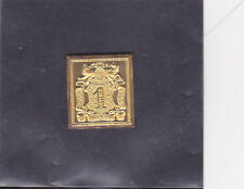 HANOVER FIRST ISSUE (1850) REPLICA 24 KT IN GOLD    VERY NICE