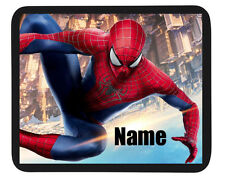 "Peronalised Kids ""Spiderman"" Mouse Mat - Add Child Name - Great Gifts+++++++++++"