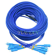 100M Indoor Armored SC-SC 4 Strand Single-Mode 9/125,Fiber Patch Cord DHL free